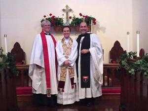 Fr. John, Ann Tillman and Fr. Donald Matthews